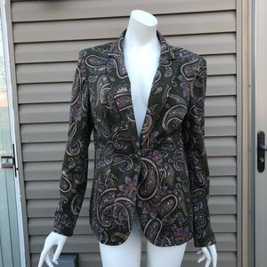 MNG Collection Paisley Blazer, Size Xl